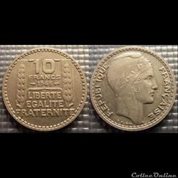 Lc 10 francs Turin grosse tête rameaux c...
