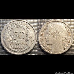 Ge 50 centimes Morlon 1945 C 18mm 0.7g