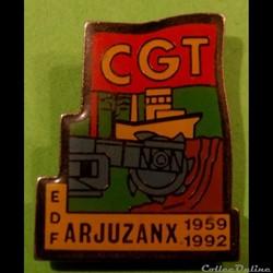 Pin's (40) Arjuzanx CGT Centrale Thermique EDF