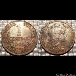 Aa 1 centime Dupuis 1903
