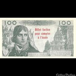 100 Francs Bonaparte billet factice