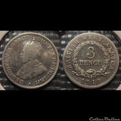 British West Africa 3 Pence 1919