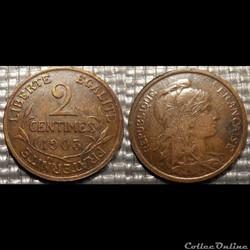 Ba 2 centimes Dupuis 1903