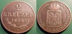 Autriche 2 Kreuser 1848A