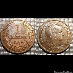 Aa 1 centime Dupuis 1899