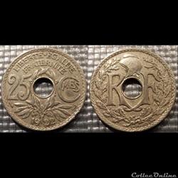 Fd 25 centimes EM Lindauer 1922 24mm 5g