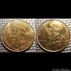Ef 20 centimes Marianne 1996 23.5mm 4g
