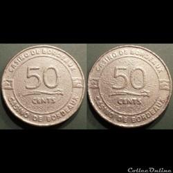 j- Jeton casino Bordeaux 50 Cents