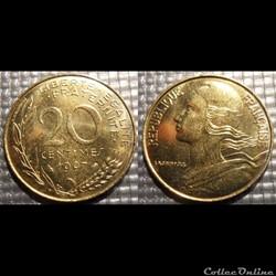 Ef 20 centimes Marianne 1997 23.5mm 4g