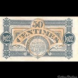 billet france romaine g1 50c chambre de commerce de mont de marsan deliberation du 16 mars 1922