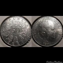 Autriche 50 Shilling 1971