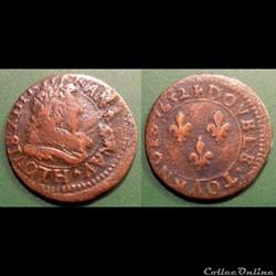 G1 Louis XIII La Rochelle double tournois 1632
