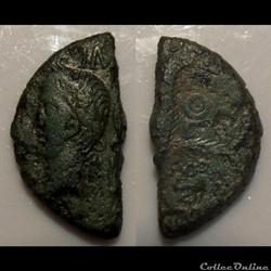 B-Julio-Claudiens Augute & Agrippa 1/2 A...