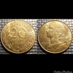 Ef 20 centimes Marianne 1979 23.5mm 4g