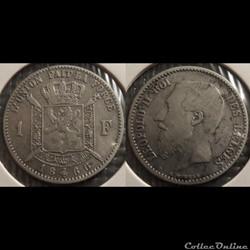 Belgique 1 Franc  1866  Des Belges