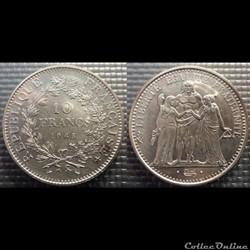 Lf 10 francs Hercule 1965 37mm 25g