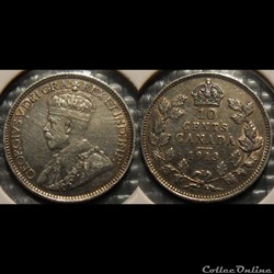 Canada 10 Cents 1913