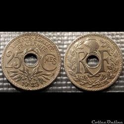 Fd 25 centimes EM Lindauer 1923 24mm 5g