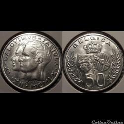 Belgique 50 Franc 1960 Belgica