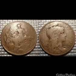 Ca 5 centimes Dupuis 1909