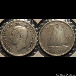 Canada 10 Cents 1951