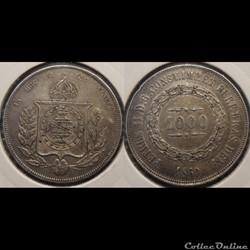Brésil 1000 Reis 1860