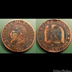 Monnaie satirique Napoléon III casque à ...