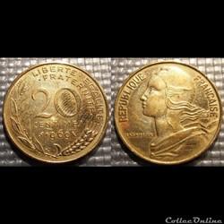 Ef 20 centimes Marianne 1969 23.5mm 4g