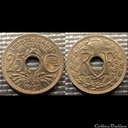 Fd 25 centimes EM Lindauer 1937 24mm 5g
