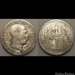 Autriche 1 Khrone 1894