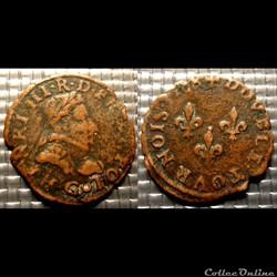 E4 Henri III Double Tournois 1588 Poitie...