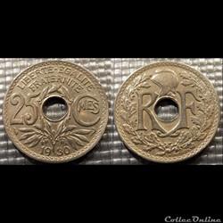 Fd 25 centimes EM Lindauer 1930 24mm 5g