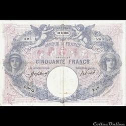 50 Francs Bleu et Rose 12 février 1915