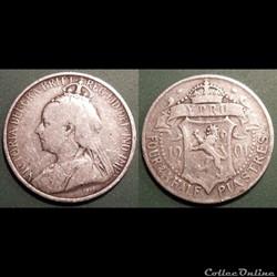 Chypre 4-1/2 Piastres 1901
