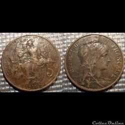 Ca 5 centimes Dupuis 1911