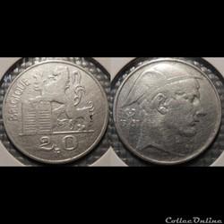 Belgique 20 Franc 1950 Belgique