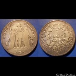 C-Directoire 5 Francs Union et Force