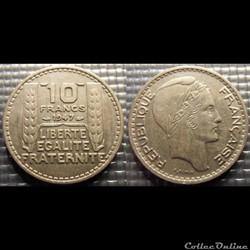 Ld 10 francs Turin petite tête 1947 26mm...