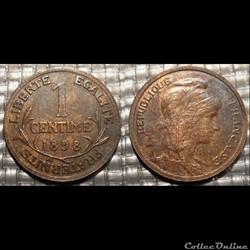 Aa 1 centime Dupuis 1898