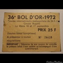 36ème Bol d'Or 1972 au Mans