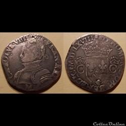 D2 Charles IX Teston Toulouse 1568 M