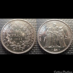 Lf 10 francs Hercule 1968 37mm 25g