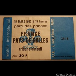 Rugby France-Galle 1983