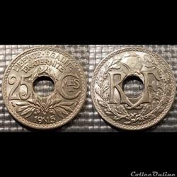 Fc 25 centimes EM Lindauer 1915 24mm 5g