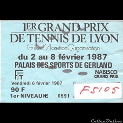 Tennis 1er Grand Prix de Lyon 1987