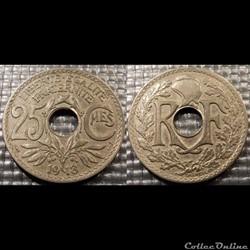 Fd 25 centimes EM Lindauer 1918 24mm 5g