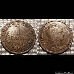 Aa 1 centime Dupuis 1902