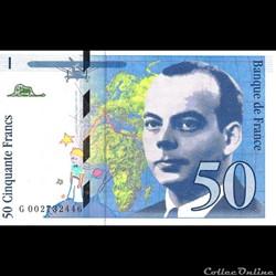 50 Francs St Exupéry