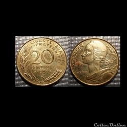 Ef 20 centimes Marianne 1968 23.5mm 4g