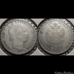 Autriche 1/4 Florin 1859 A